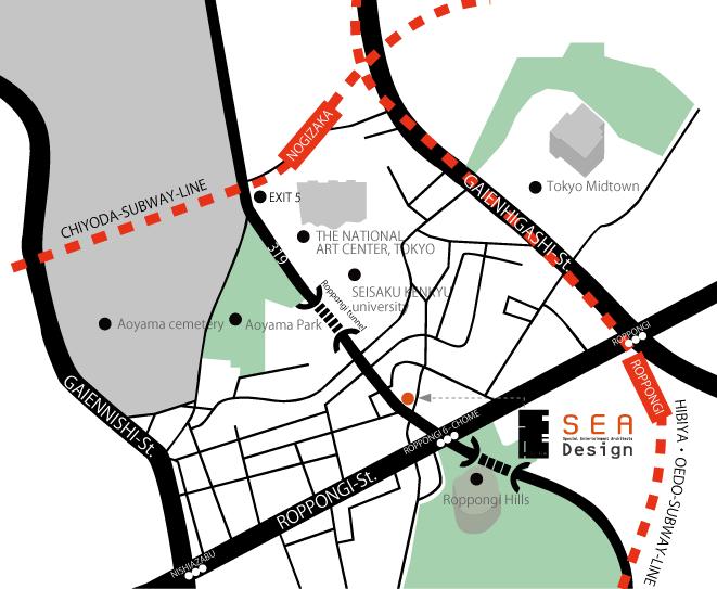 SEA Design 六本木事務所 地図